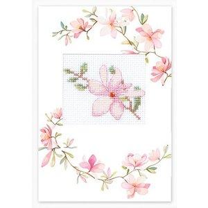 Luca-S Borduurpakket Postcard Pink Flower - Luca-S