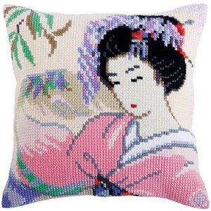 Collection d'Art Kussen borduurpakket Japanese Love - Collection d'Art