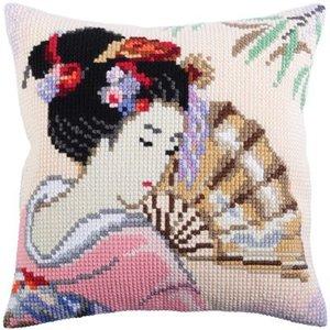 Collection d'Art Kussen borduurpakket Beautiful Japanese - Collection d'Art