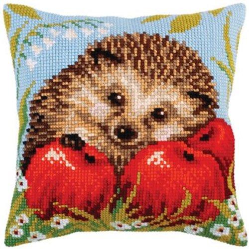 Collection d'Art Kussenpakket Hedgehog with Apples - Collection d'Art