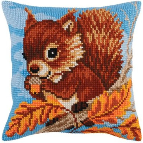 Collection d'Art Kussenpakket Squirrel with a Nut - Collection d'Art