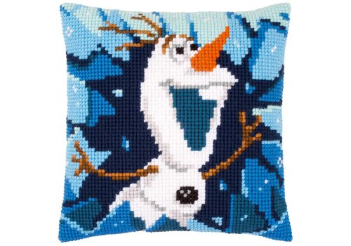 Vervaco Borduurkussen Frozen - Olaf