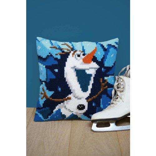 Vervaco Kruissteekkussen kit Disney Olaf