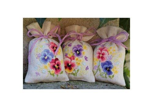 Vervaco Lavendelzakje (set van 3) Viooltjes