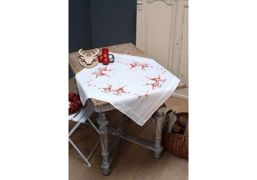 Vervaco Tafelkleed kit Zingende kerstkabouters