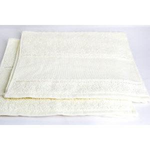 Hemline Handdoek gebroken wit