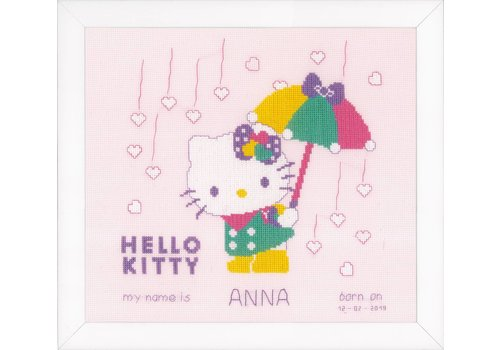 Vervaco Hello Kitty: A shower of hearts
