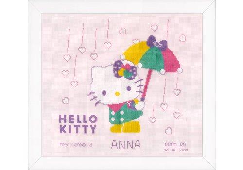 Vervaco Telpakket kit Hello Kitty A shower of hearts