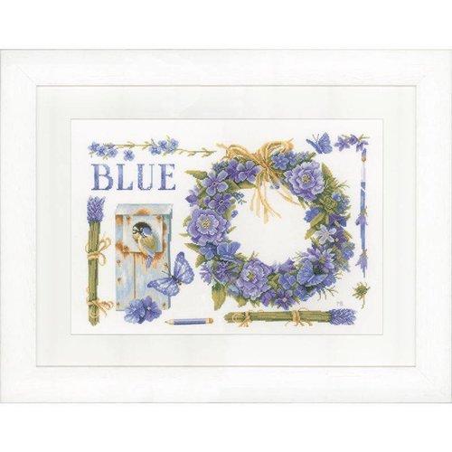 Lanarte Telpakket kit Lavendelkrans met Pimpelmees