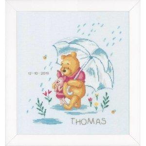 Vervaco Telpakket kit Disney Winnie in de regen
