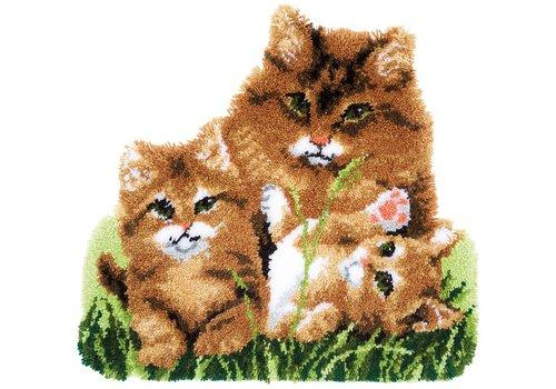 Vervaco Knoopkleed: Kattenfamilie