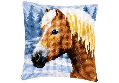 Vervaco Kussenpakket Paard in de sneeuw