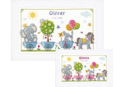 Vervaco Geboortetegel Oliver of Olivia - Dierenkoets