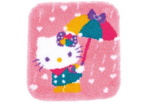 Vervaco Knoopvormtapijt kit Hello Kitty A shower of hearts