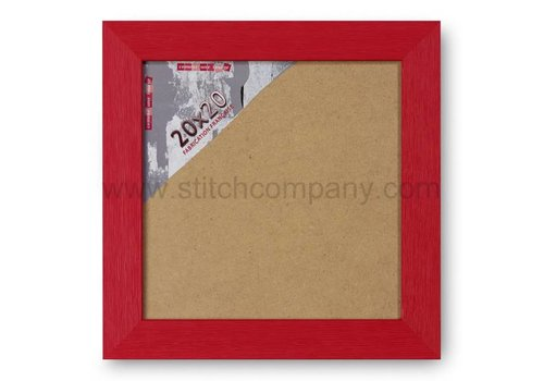 The Stitch Company Houten wissellijst - rood - 20 x 20 cm