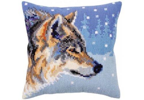 Collection d'Art Kussenpakket Winter Animals Wolf - Collection d'Art