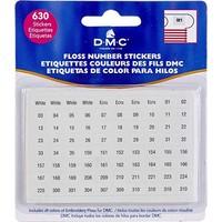 DMC kleurnummer stickers
