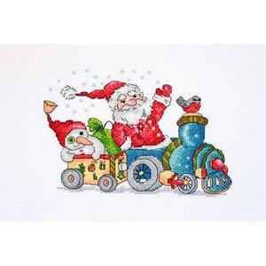 Merejka Borduurpakket Christmas Travel