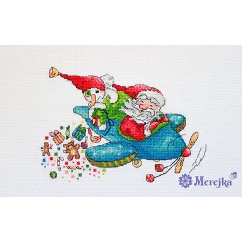 Merejka Borduurpakket Christmas Flight