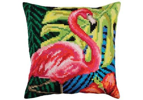 Collection d'Art Kussenpakket Pink Flamingo - Collection d'Art