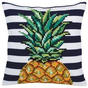 Collection d'Art Kussen borduurpakket Pineapple - Collection d'Art