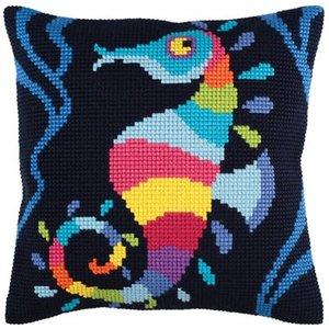 Collection d'Art Kussen borduurpakket Sea Mosaic - Collection d'Art