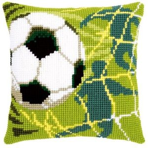 Vervaco Kruissteekkussen kit Voetbal