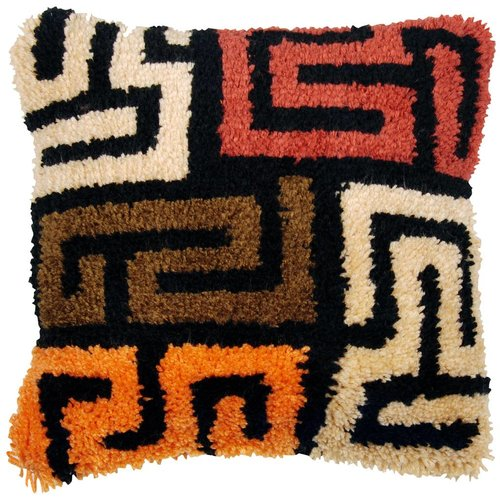 Vervaco Knoopkussen kit Kuba cloth patterns