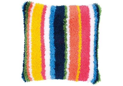 Vervaco Knoopkussen kit Stripes
