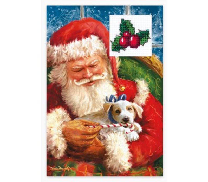 Borduurpakket Postcard Christmas- Luca-S