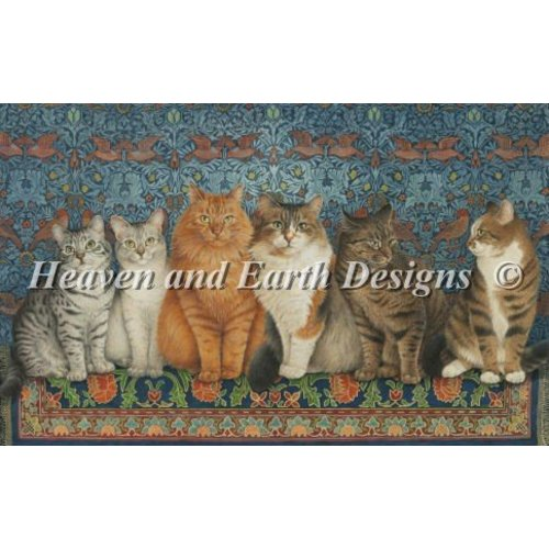 Heaven and Earth Designs  Lesley Anne Ivory:  Lineup of Cats