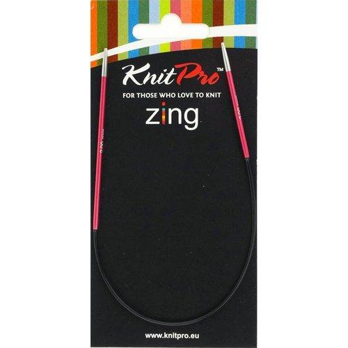 KnitPro Knitpro Zing Fixed Rondbreinaald 25 cm - 2 - 5 mm