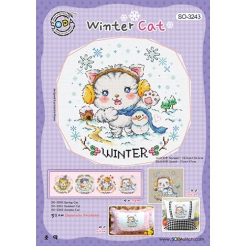 Soda Stitch Winter Cat
