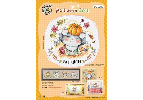 Soda Stitch Autumn Cat