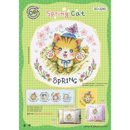 Soda Stitch Spring Cat