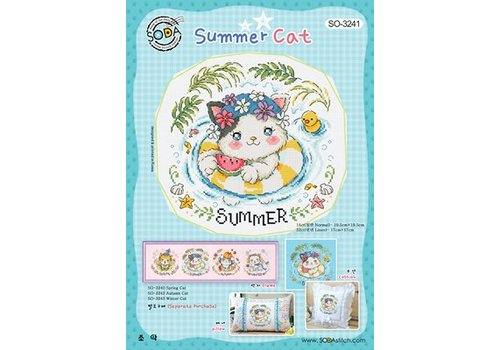 Soda Stitch Summer Cat