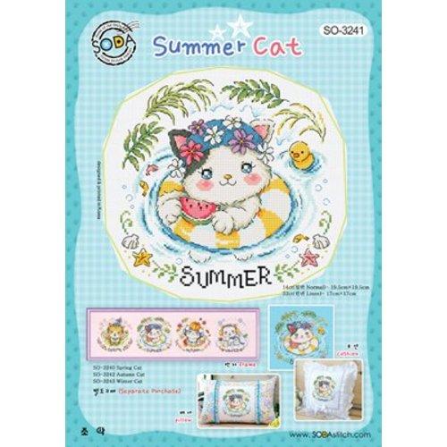 Soda Stitch Summer Cat