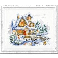 Borduurpakket Winter Cottage - Chudo Igla
