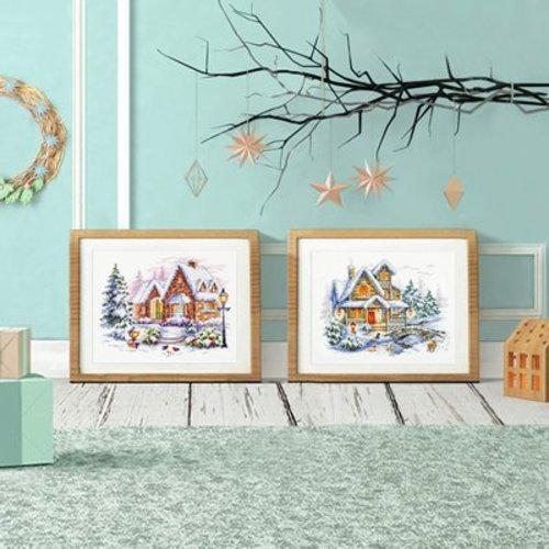 Chudo Igla Borduurpakket Winter Cottage - Chudo Igla