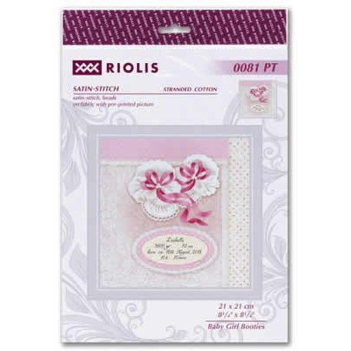 RIOLIS Borduurpakket Baby Girl Booties - RIOLIS