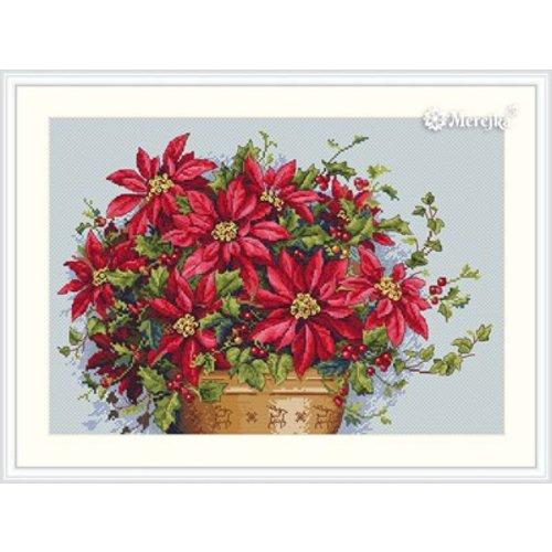 Merejka Borduurpakket Poinsettia - MEREJKA