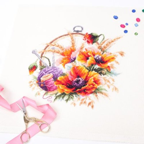 Chudo Igla Borduurpakket Poppies for needlewoman - Chudo Igla