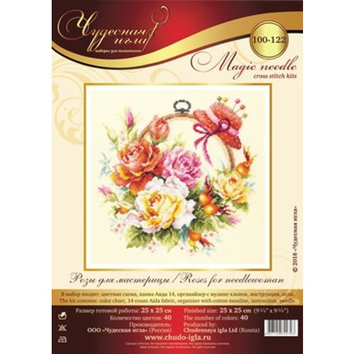 Chudo Igla Borduurpakket Roses for needlewoman - Chudo Igla