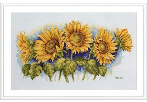 Merejka Borduurpakket Bright Sunflowers - MEREJKA