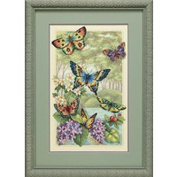 Borduurpakket Gold Collection: Butterfly Forest - DIMENSIONS