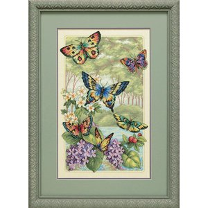Dimensions Borduurpakket Gold Collection: Butterfly Forest - DIMENSIONS
