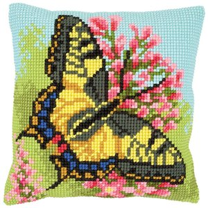 Vervaco Kruissteekkussen kit Vlinder