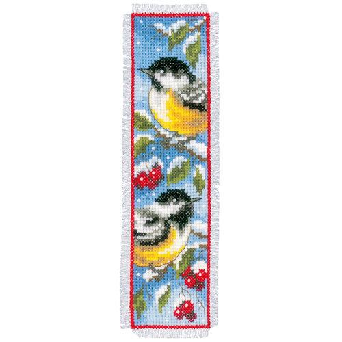 Vervaco Bladwijzer kit Vogels in winter set van 2