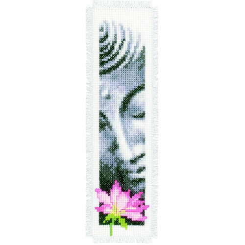 Vervaco Bladwijzer kit Lotus en Boeddha set van 2