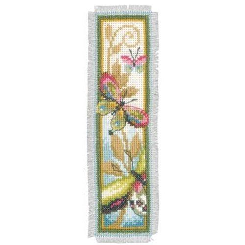 Vervaco Bladwijzer kit Decoratieve vlinder set van 2